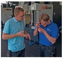 Il moderno Centro tecnologico Blaser dove vengono svolte prove comparative e migliorative su diversi materiali e si offre al cliente un prezioso supporto consulenziale